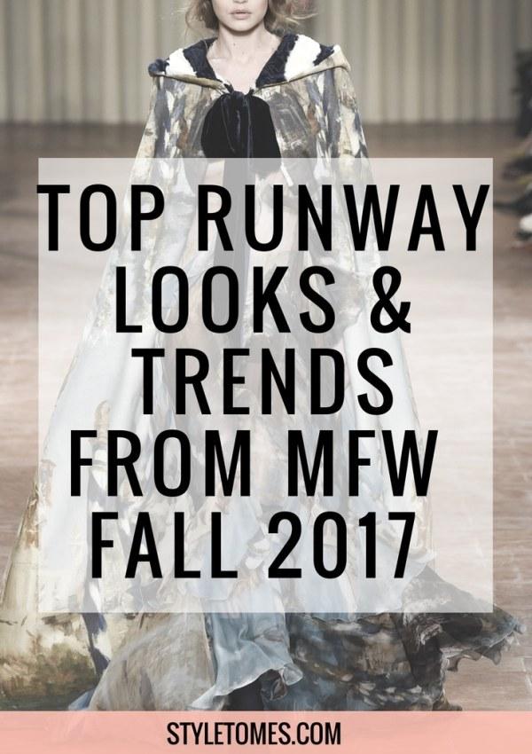Milan Fashion Week: Fall 2017 Fashion Trends & Top Looks