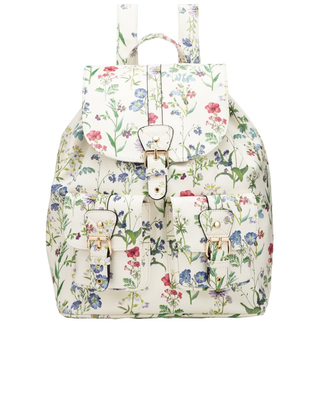 Floral backpack, £37, Accessorize