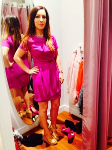 Dress, £70, nude wedges, £55, both available at Oasis at Glasgow Fort Shopping Centre.