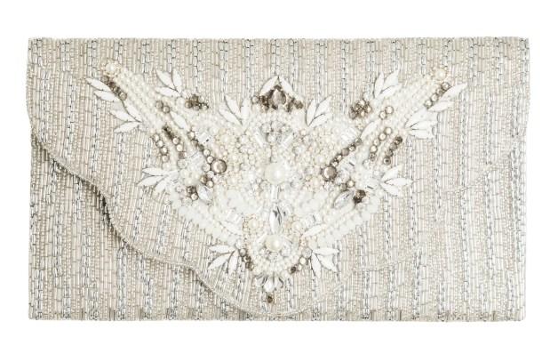 Clutch bag, £55, Jenny Packham