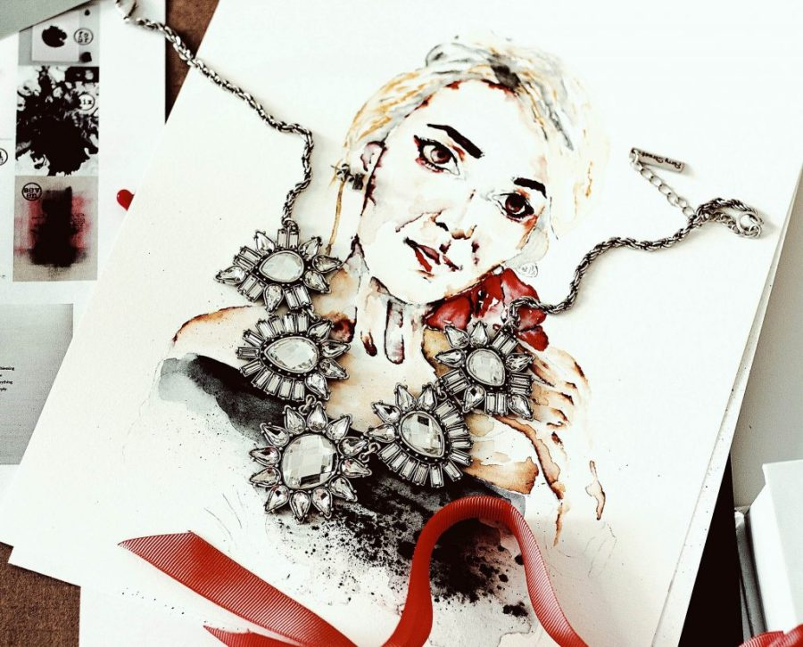 Statement Necklace Fashion Illustration