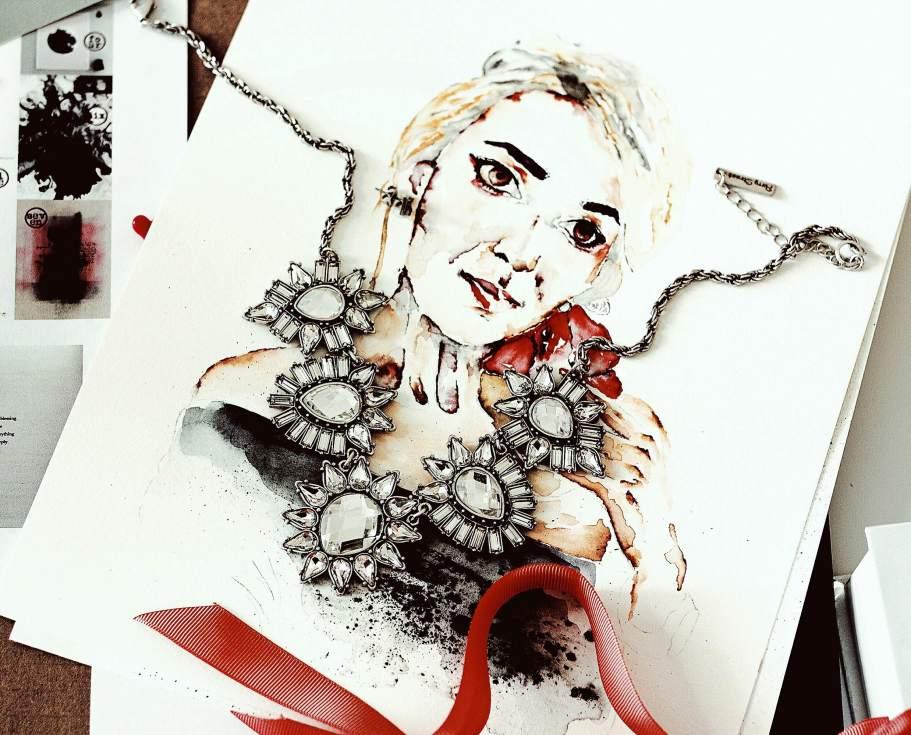 Statement Necklace Fashion Illustration