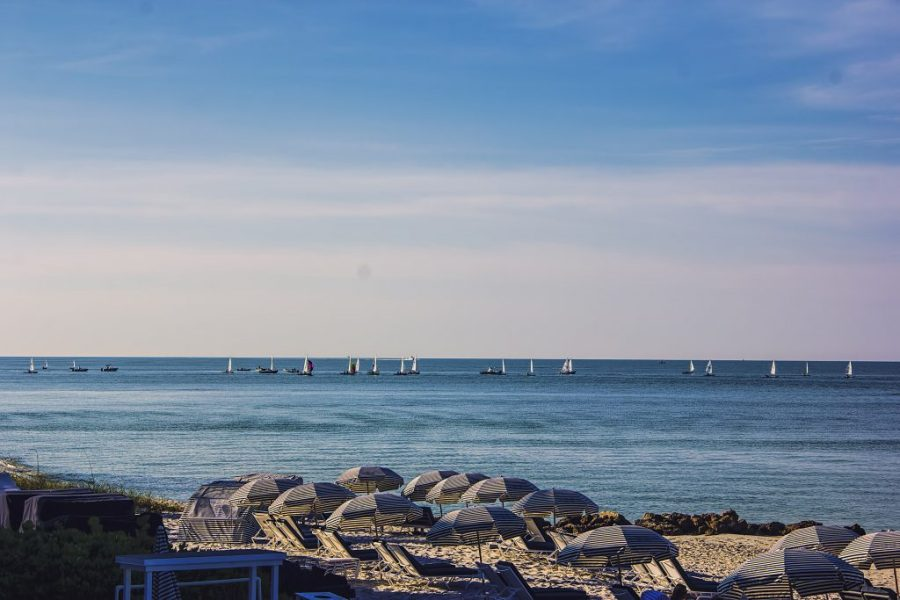 Sail boats on the Ocean in Naples FL