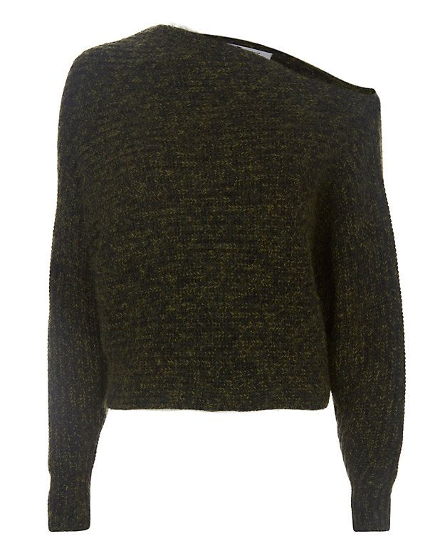 T by Alexander Wang Asymmetric Chunky Pullover