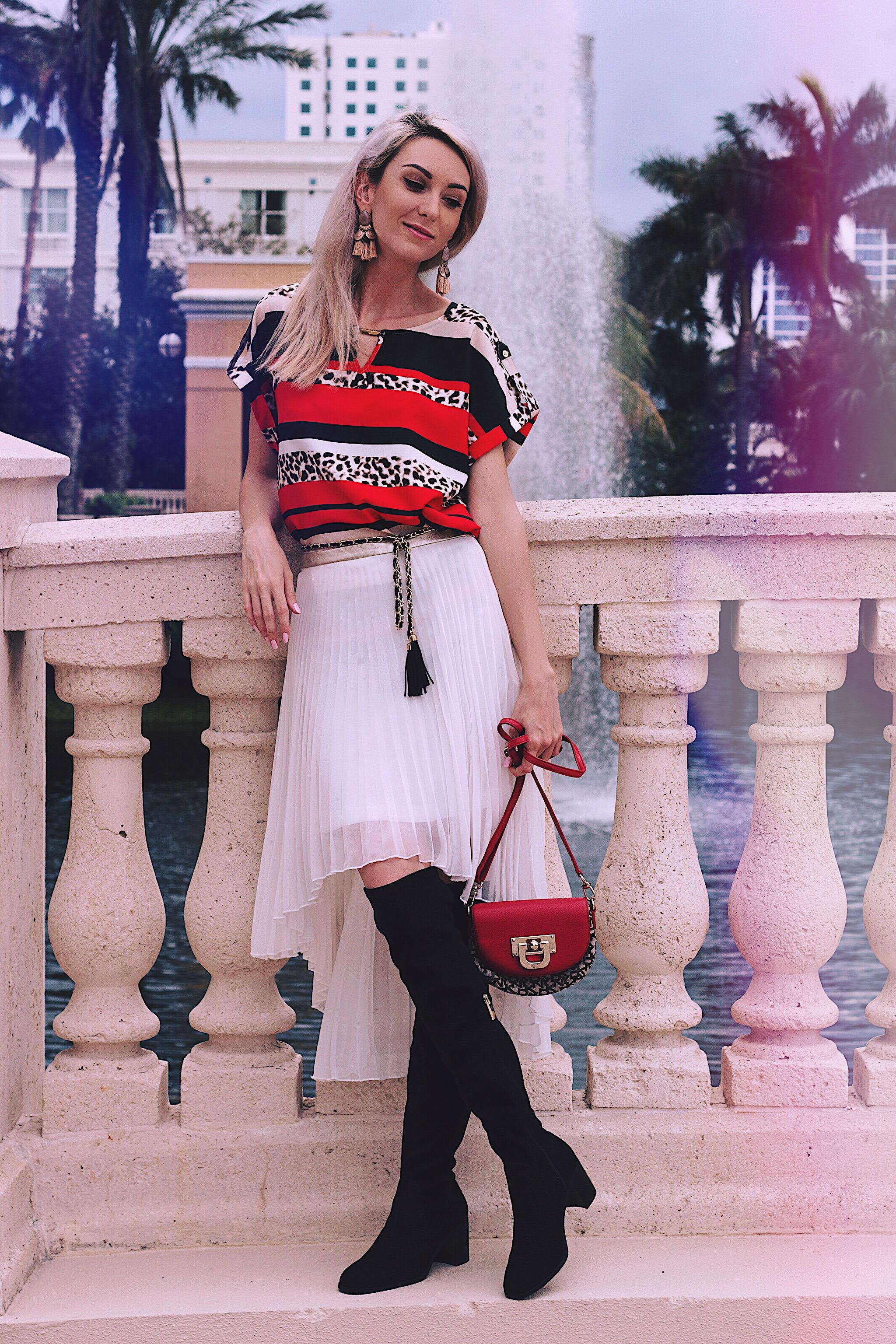 Cinderella Moment Calvin Klein Blouse Asos Pleated Skirt Zara Boots