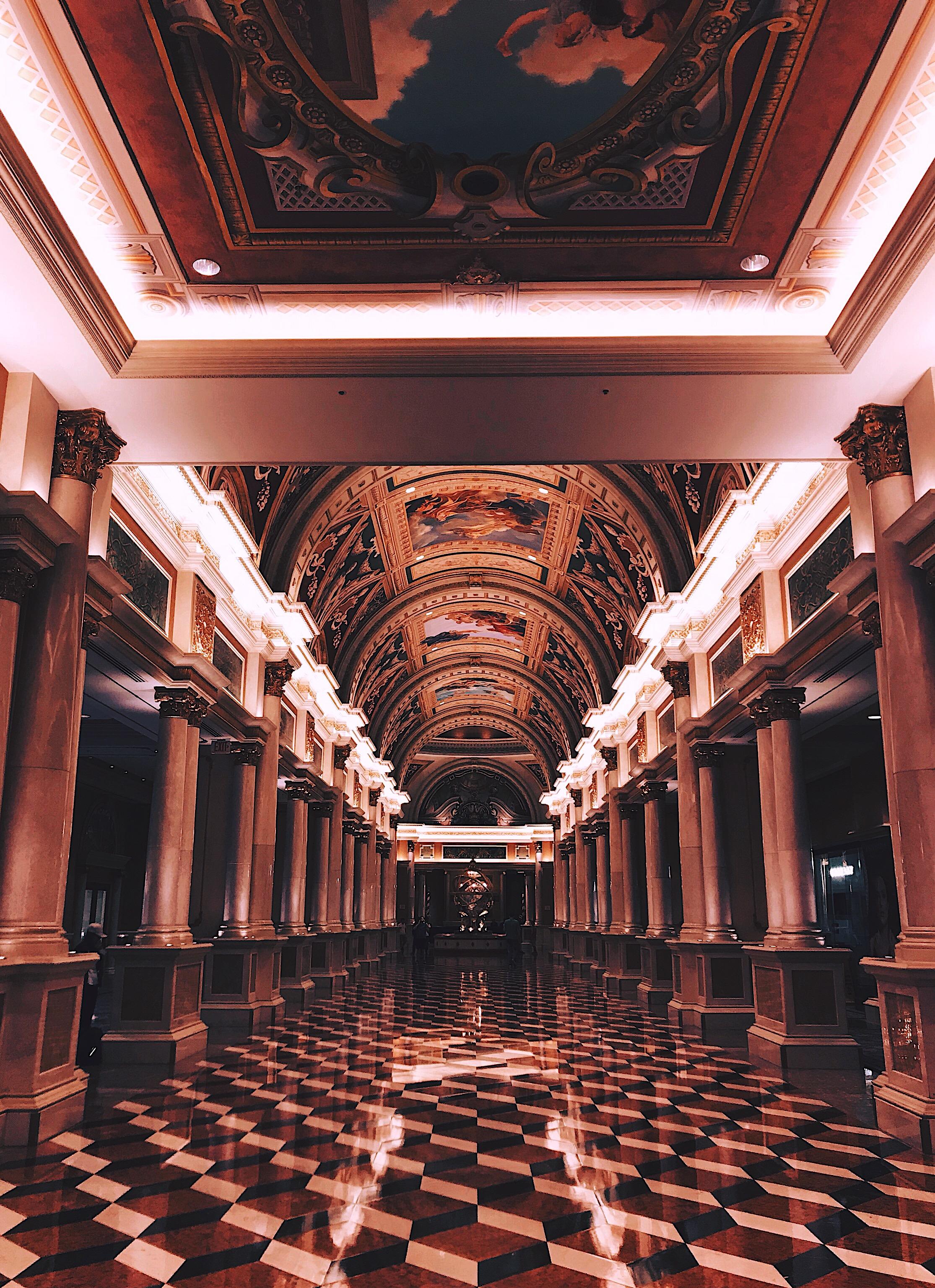 Las Vegas The Venetian Hotel hallway Style Unsettled