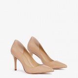 Ann Taylor Mila Leather Nude Pumps