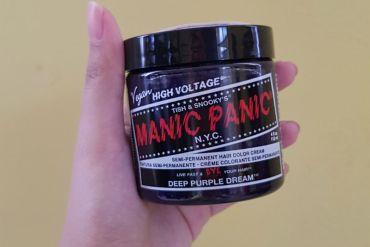 manic panic hair dye review - manic panic deep purple haze via stylevanity.com