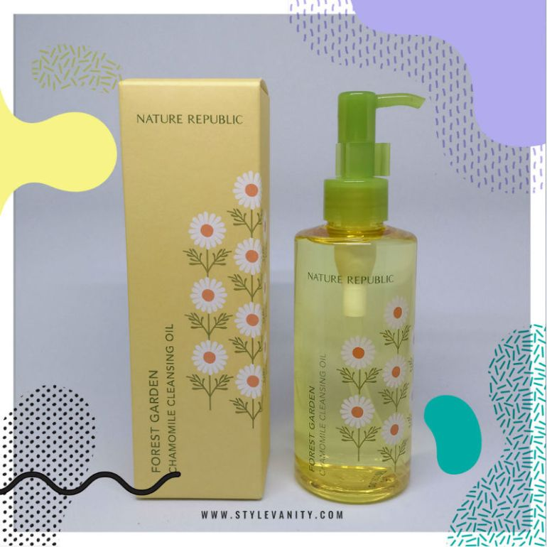 nature republic forest garden chamomile cleansing oil review - packaging