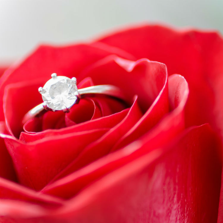 diamond ring rose wedding