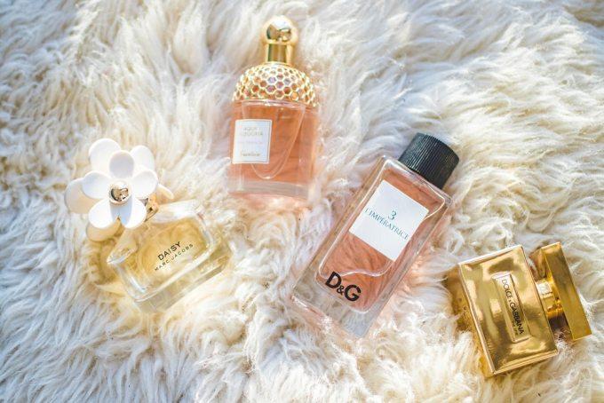 perfume flatlay