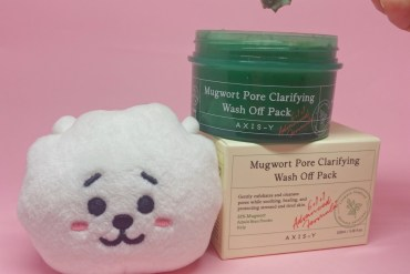 axis-y mugwort pore clarifying wash off pack review