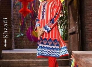 Colorful Eid Wear Lawn Dresses For Girls By Khaadi 2015