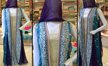 Embroidered Chiffon Party Wear For Women By Sana Samia 2015