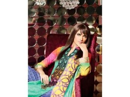 Floor Length Long Party Wear Dresses For Eid By Lala Textiles 2015
