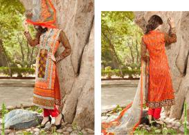 Semi Sitched Eid Lawn Dresses For Girls By Salitex 2015 2