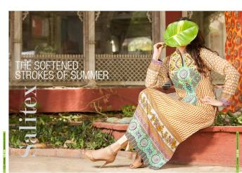Semi Sitched Eid Lawn Dresses For Girls By Salitex 2015 6