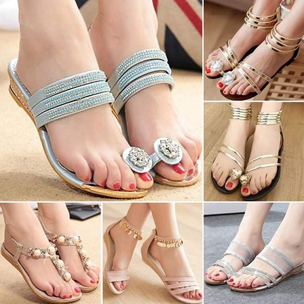Eid Sandals Footwear Shoes Designs For Women 2015 9