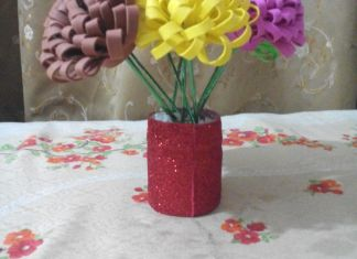 7 Easy Steps To Make Flower Vase From Fomic Sheet