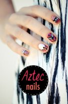 Beautiful Aztec Nail Art Designs For Young Girls 3