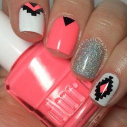 Beautiful Aztec Nail Art Designs For Young Girls 5