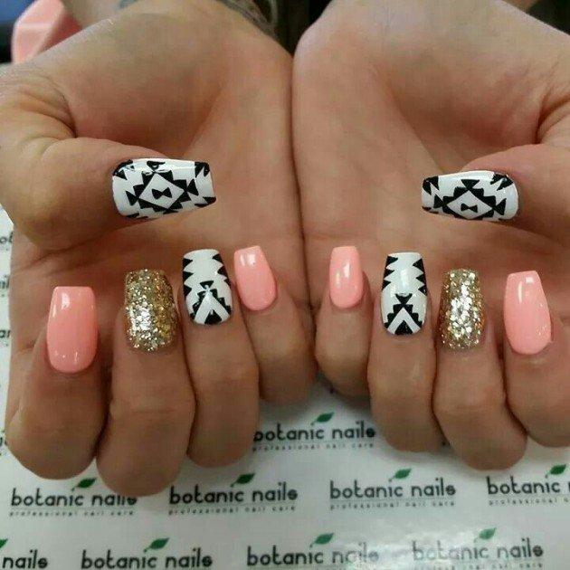 nail tutorial - Beautiful Aztec Nail Art Designs For Young Girls