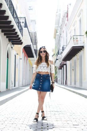 Button Front Skirts Summer 2016 Trends