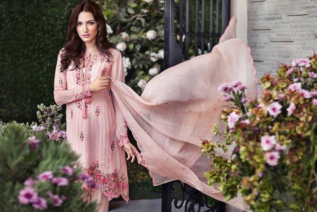 floral embroidery kameez
