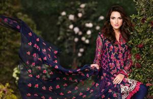 Embroidered Chiffon Shirts Eid Wear By Mina Hassan 2015-16