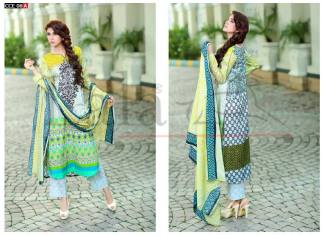Embroidered Cotton Kurti For Eid Ul Azha By Lala 2015-16