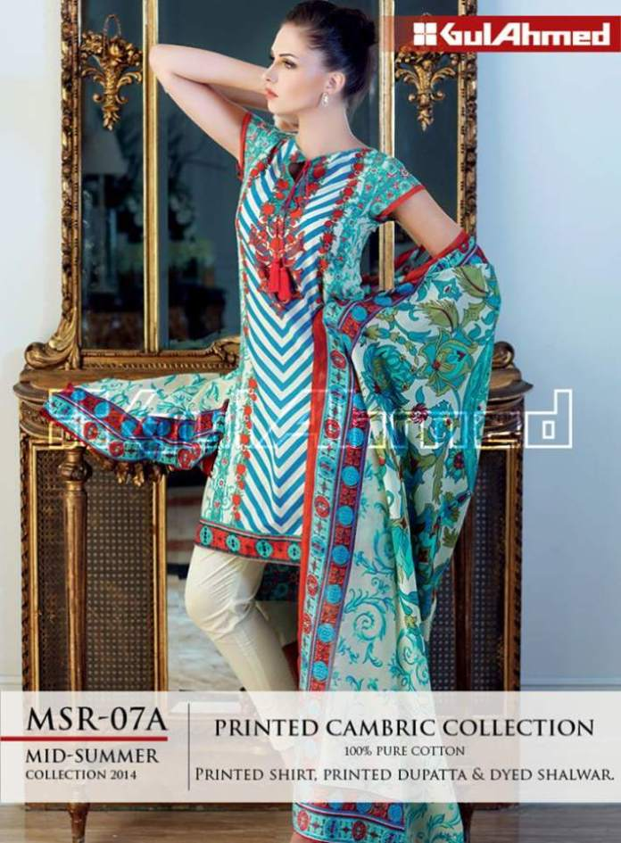 Party Wear Cambric Dresses By Gul Ahmed 2015-16