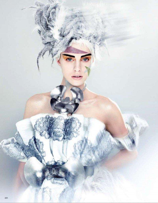 snow queen halloween makeup