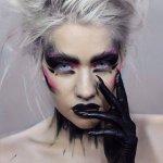 black queen scary makeup