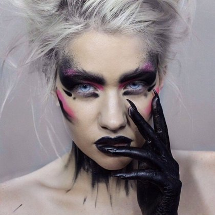 black queen scary makeup