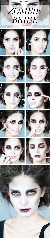 creepy bride halloween makeup
