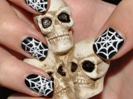 Ghost Face Halloween Nail Art Designs 2015-16