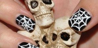 Ghost Face Halloween Nail Art Designs 2015-16