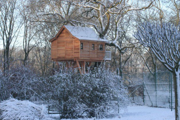 snow tree house