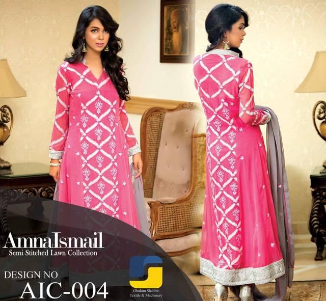 Semi Stitched Winter Wear By Amna Ismail 2015-16