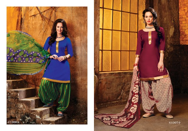 Cotton Patiala Salwar Suits 2016 For Indian Women