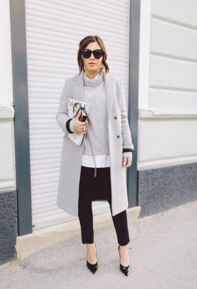 Grey Coat Designs To Try This Winter Season 2015-16