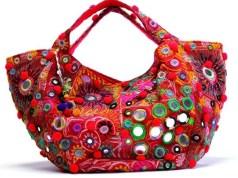 Handmade Mirror Work Handbags Designs For Stylish Girls