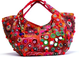 Handmade Mirror Work Handbags Designs For Stylish Girls