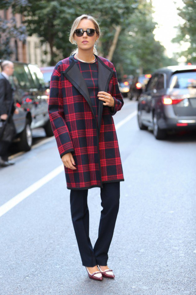 Plaid coats for women