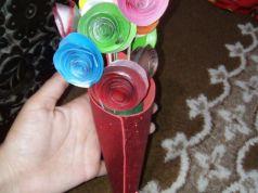 DIY Paper Flower Bouquet Tutorial