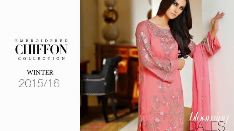 Embroidered Chiffon Collection Al Wahab Fabrics 2016