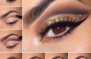 Glitter Eye Makeup Tutorials For This Season