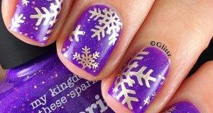 Snowflake Nail Tutorials To Look For This Season