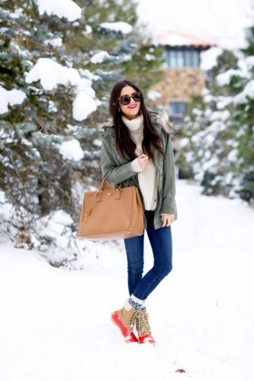 Winter snow boot outfits