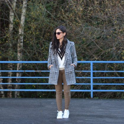 Sneakers with winter outfits